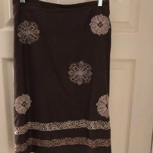 LOFT Skirts - Ann Taylor Loft vintage A-line embroidered skirt